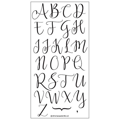 Concord & 9th - Sophisticated Script Uppercase