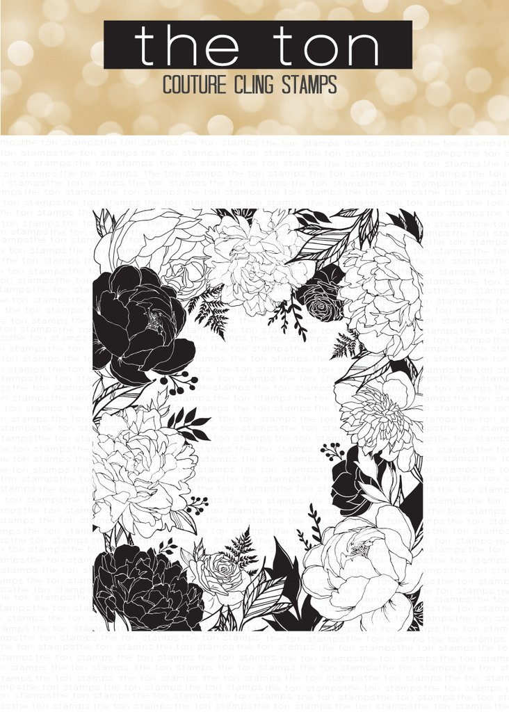 The Ton - Floral Border Cling Background