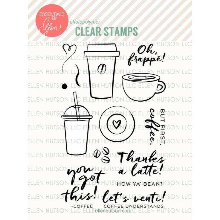 Essentials by Ellen Clear Stamps, Oh Frappe by Julie Ebersole