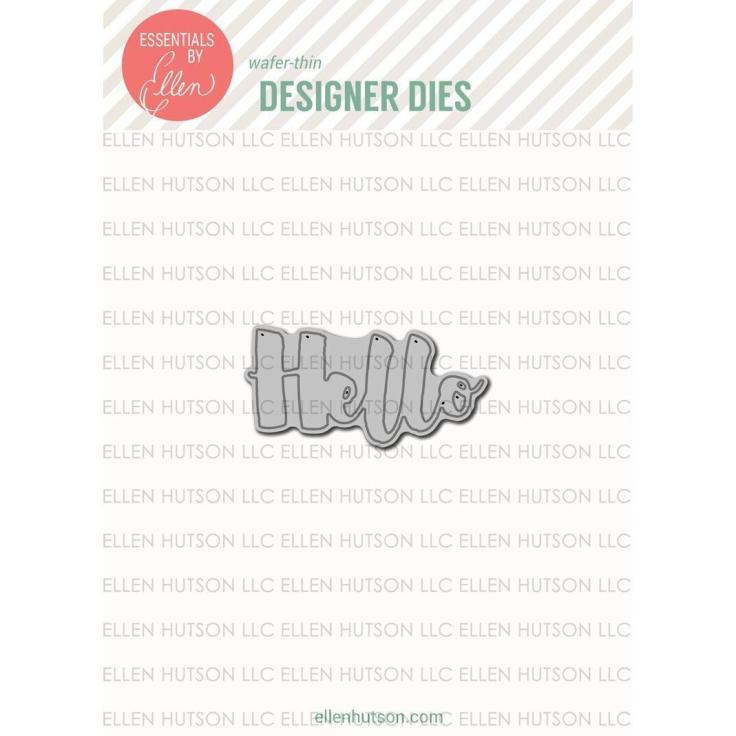 Essentials by Ellen Designer Dies - Brushstroke Hello by Julie Ebersole