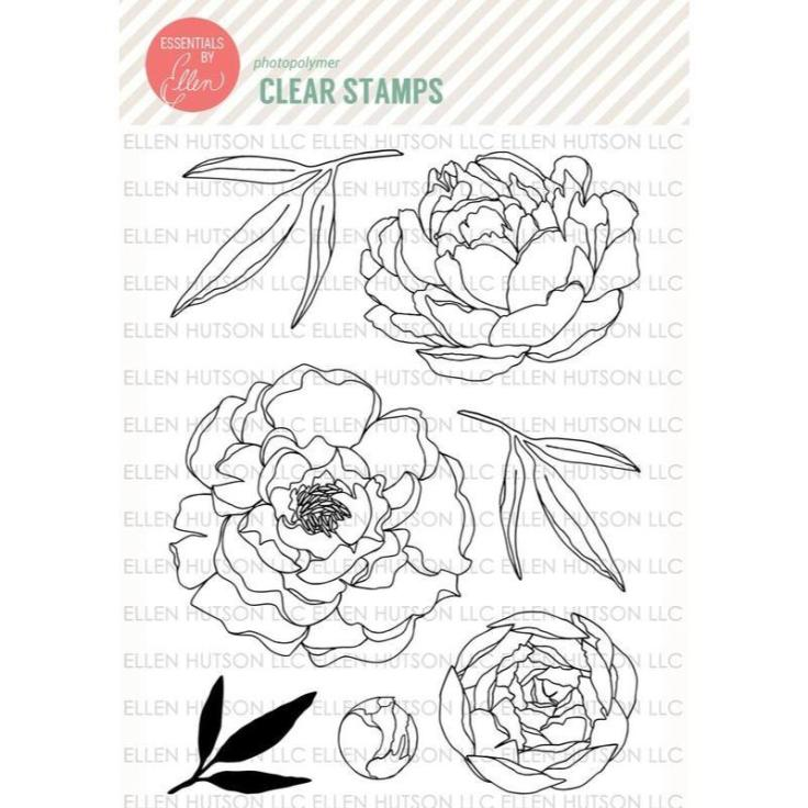 Essentials by Ellen Clear Stamps, Mondo Peony by Julie Ebersole
