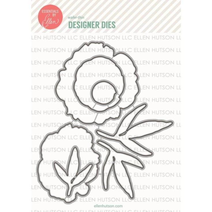 Essentials by Ellen Designer Dies, Mondo Peony by Julie Ebersole