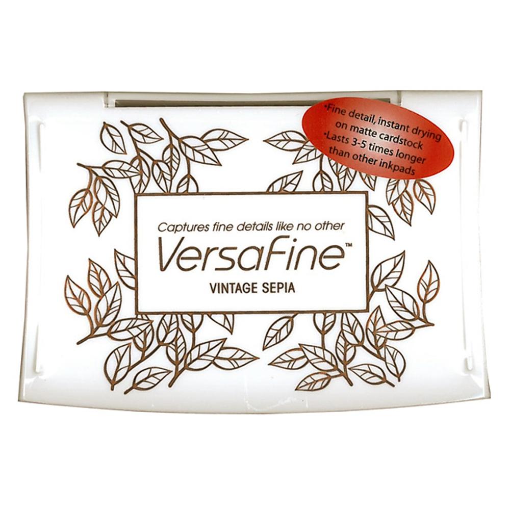Tsukineko - VersaFine Pigment Ink Pad - Vintage Sepia