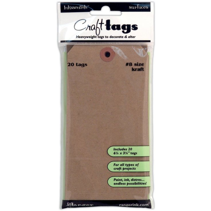 Ranger Ink Kraft Tag Number 8 20/pack