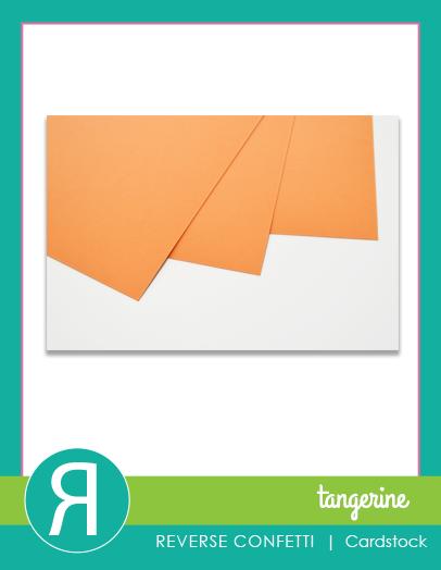 Reverse Confetti - Tangerine Cardstock 8.5 x 11