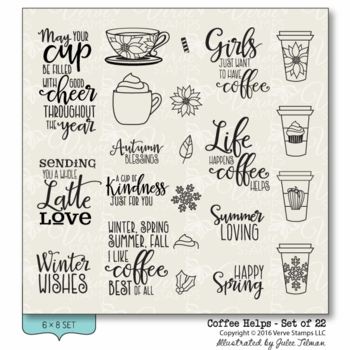 Verve Stamps - Coffee Helps