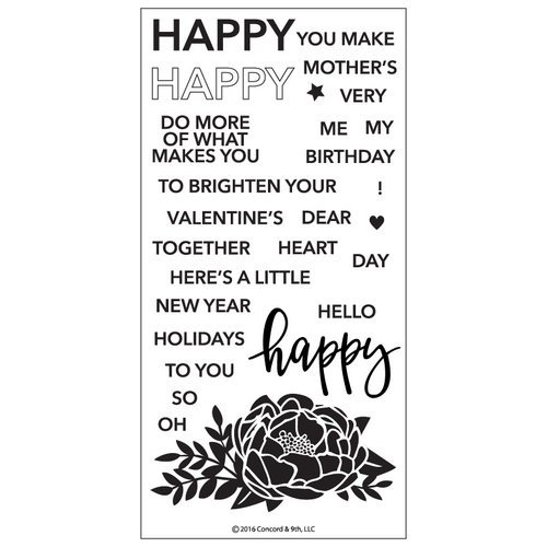 Concord and 9th - Clear Acrylic Stamps - Happy Words