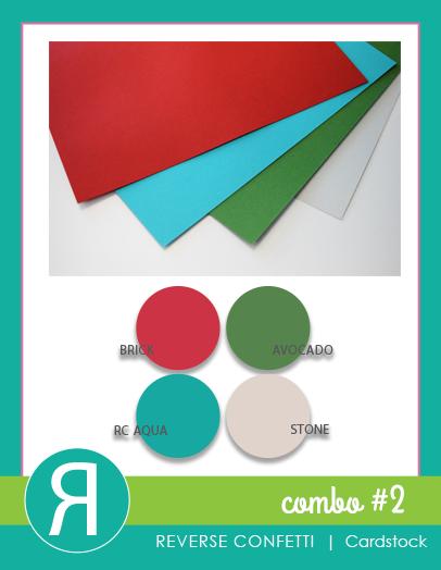 Reverse Confetti Combo 2 Cardstock 8.5 x 11