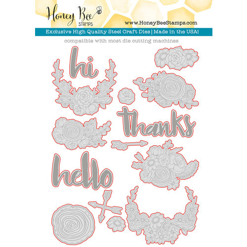 Honey Bee Stamps Honey Cuts Hello Gorgeous Steel Craft Dies