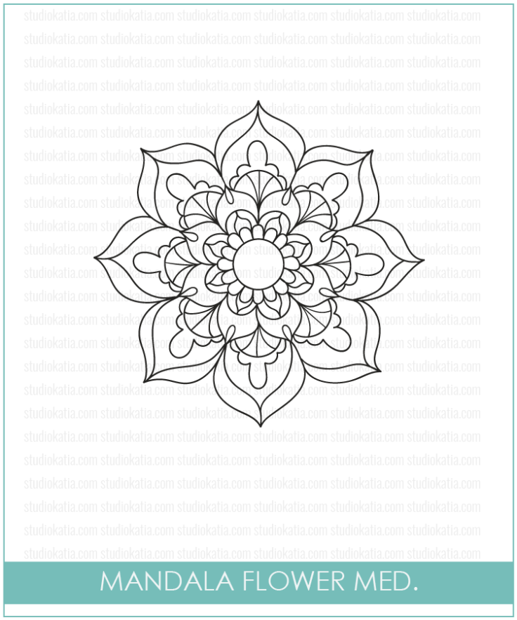 Studio Katia MANDALA FLOWER Clear Stamps