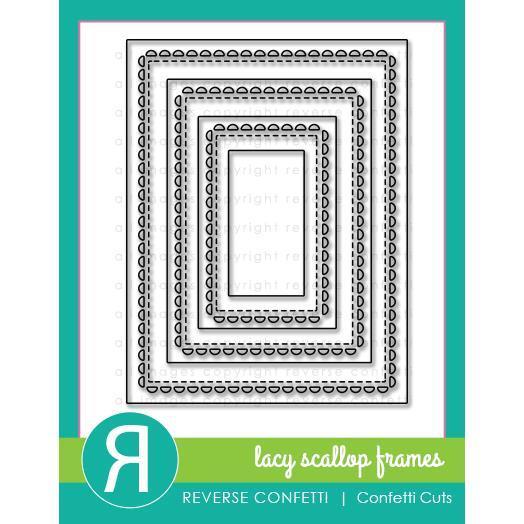 Reverse Confetti Cuts, Lacy Scallop Frame