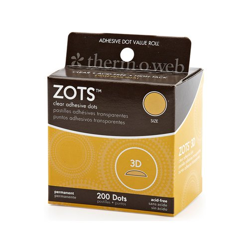 Therm O Web - Zots - Clear Adhesive Dots - 3D