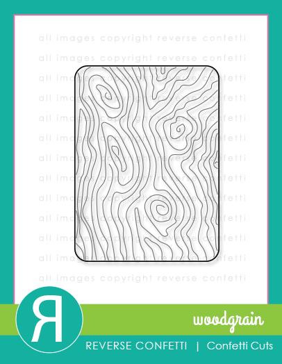 Reverse Confetti Woodgrain Confetti Cuts
