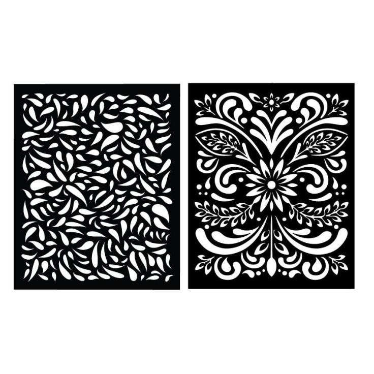 Hero Arts - Petals Stencil Pair SA051