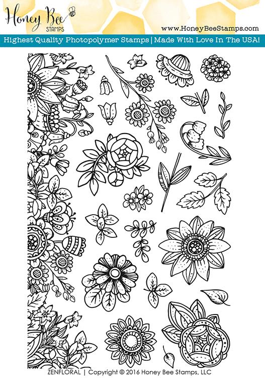 Honey Bee Stamps - Zen Floral
