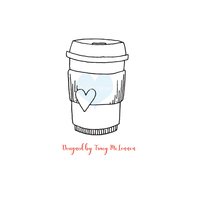 Crackerbox & Suzy Stamps - Coffee Cup Heart