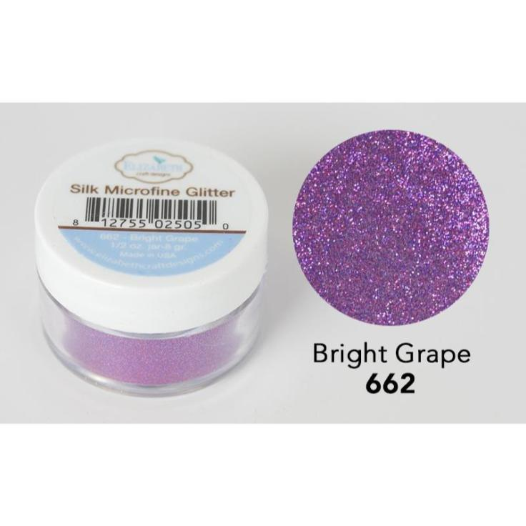 Elizabeth Craft Designs - Silk Microfine Glitter - Bright Grape