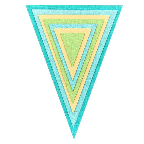 Jumbo Decorative Die Set - Nested Triangle Pennants