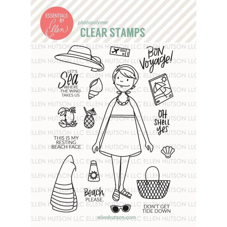 Essentials by Ellen Clear Stamps - Beach Lady by Brandi Kincaid