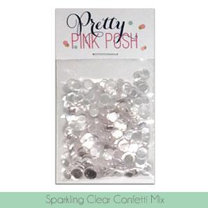 Pretty Pink Posh Sequins - Sparkling Clear Confetti Mix