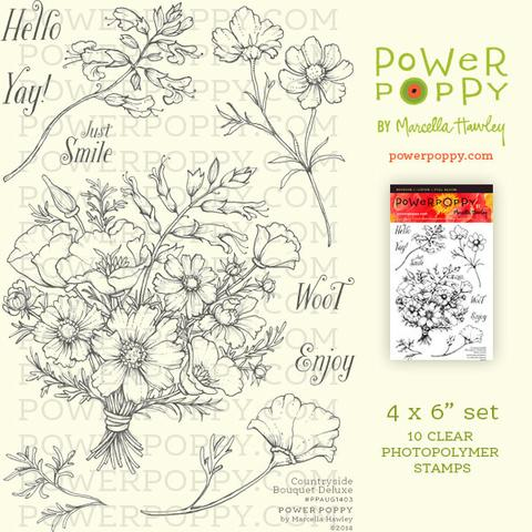 Power Poppy - Countryside Bouquet Deluxe