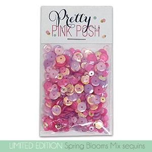 Pretty Pink Posh Sequins - Spring Blooms Mix
