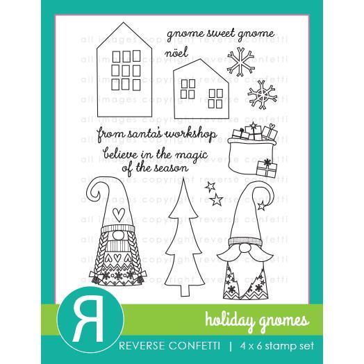 Reverse Confetti - Holiday Gnomes