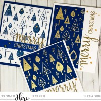 Christmas Tree Card Set