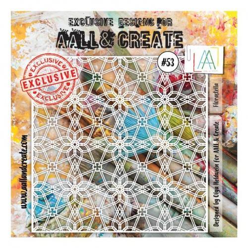 AALL & Create - Stencil - #53 - Florastella