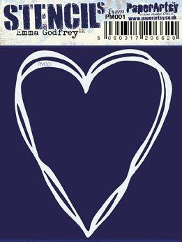 PaperArtsy - Emma Godfrey PM001 - Heart