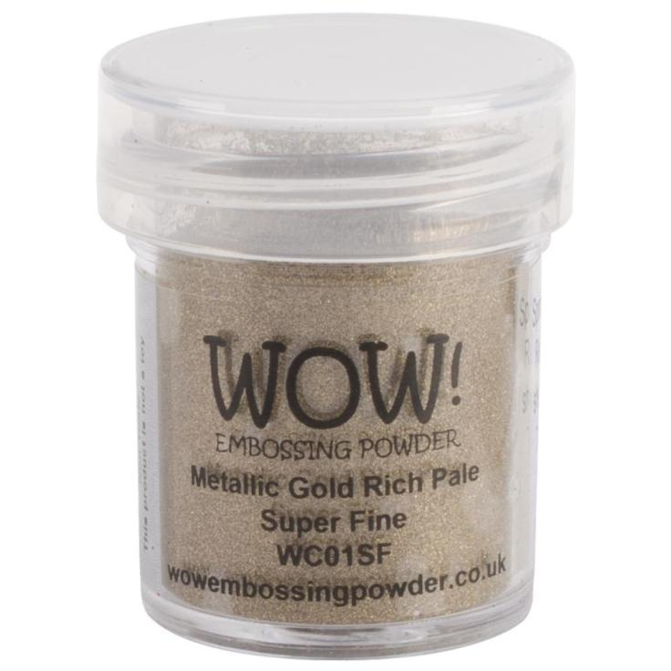 WOW Embossing Powder -  Super Fine - Metallic Gold Rich Pale