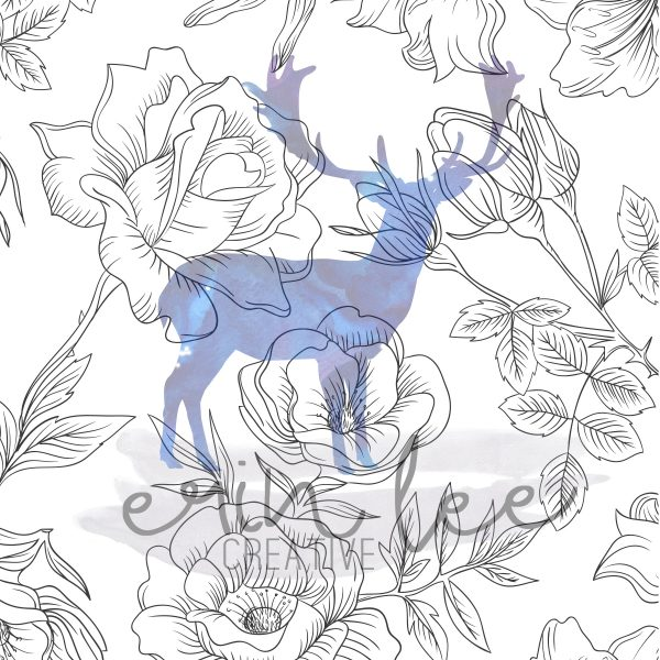 Erin Lee Cretive - Sketched Floral Background