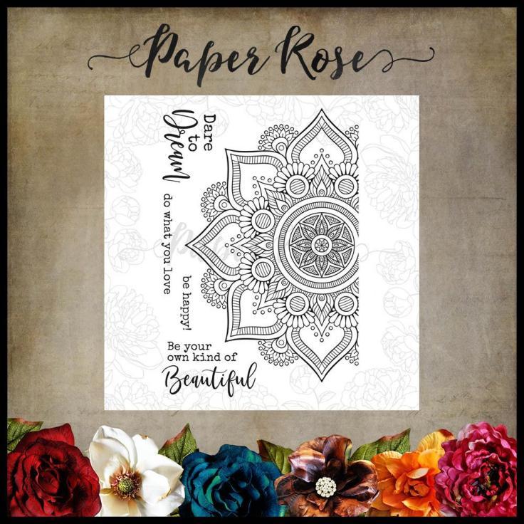 Paper Rose - Beautiful Mandala