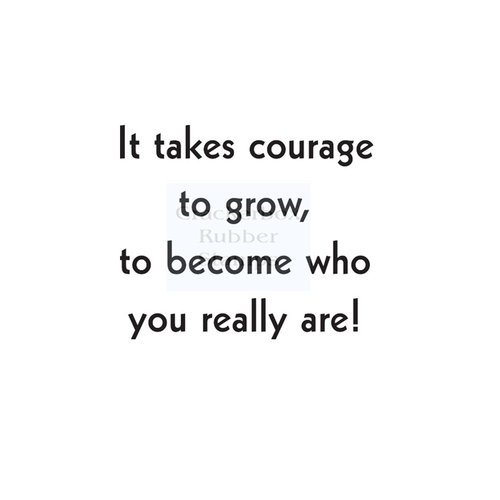 Crackerbox & Suzy Stamps - Courage to Grow