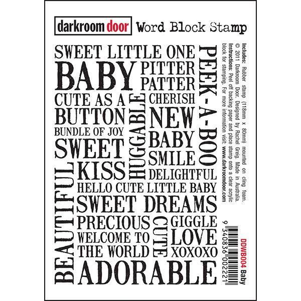 Darkroom Door - Baby Word Block