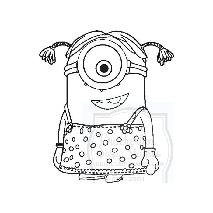 Crackerbox & Suzy Stamps - Minion Lucy