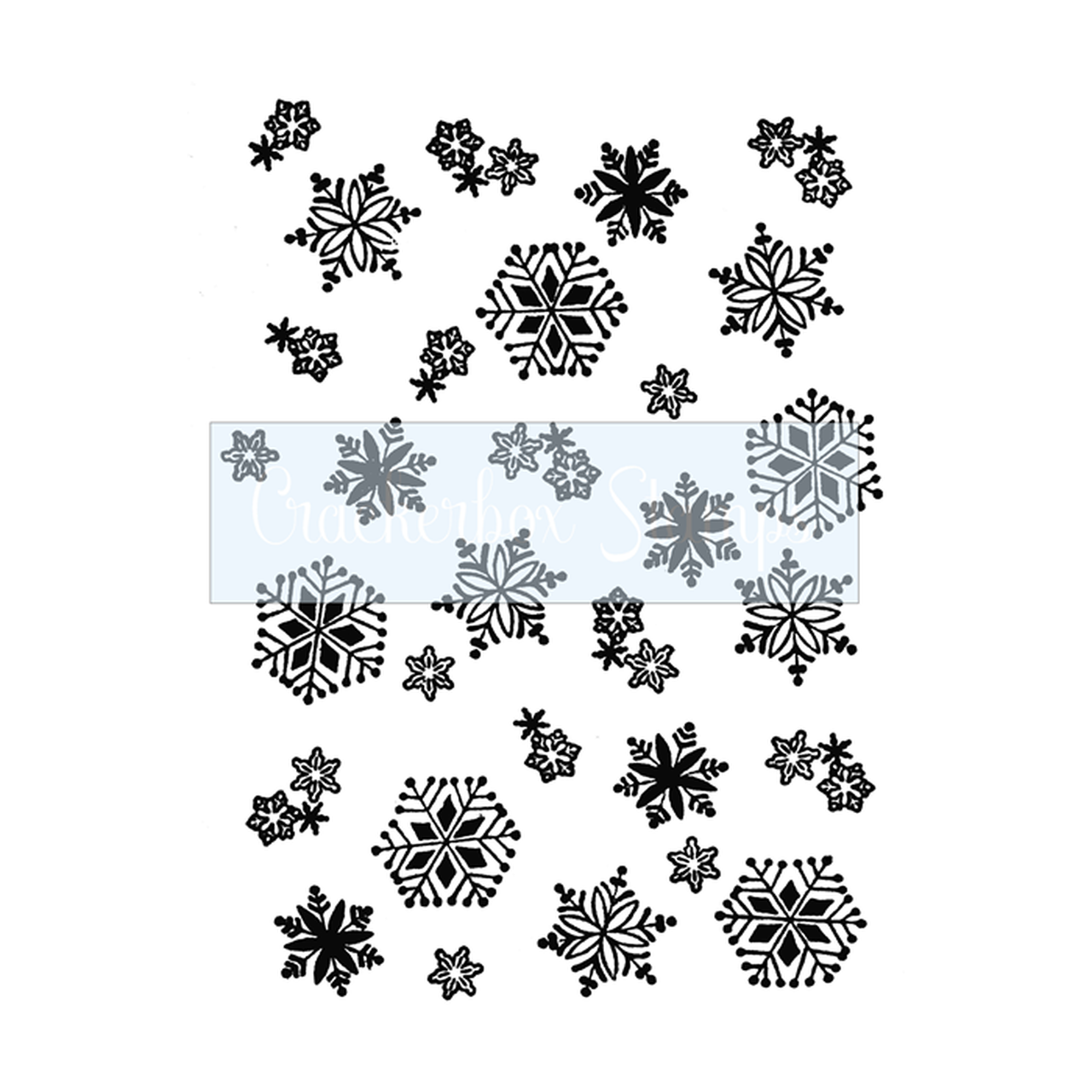 Crackerbox & Suzy Stamps - Snowflake Background