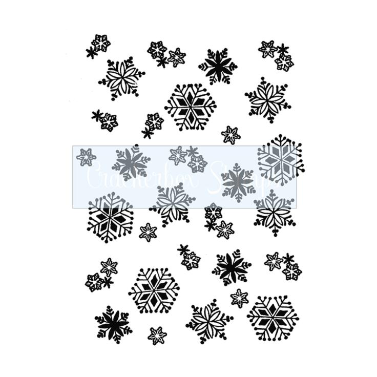 Crackerbox & Suzy Stamps - Snowflake Background