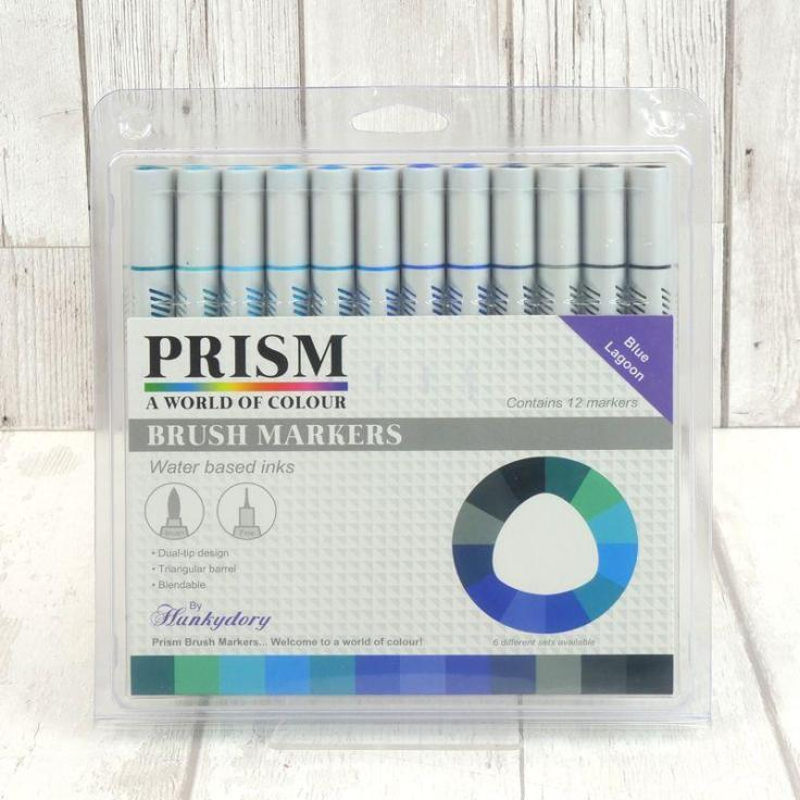 Hunkydory - Prism Brush Markers - Blue Lagoon