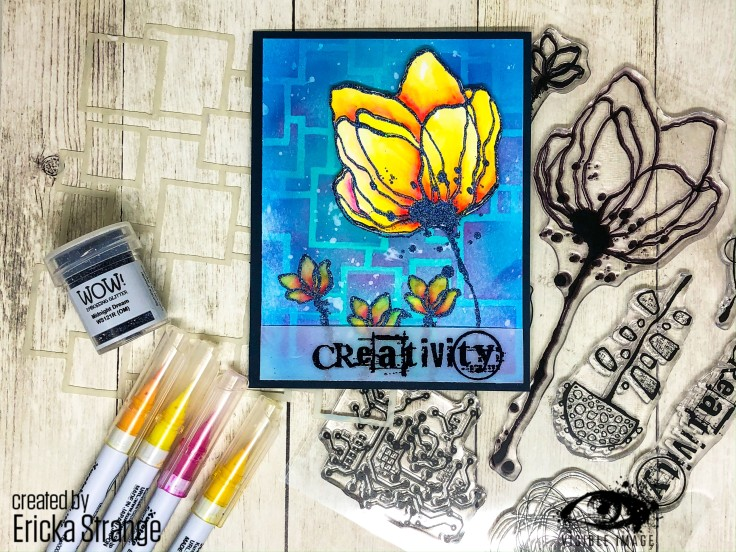 creativity | stamp | squares stencil