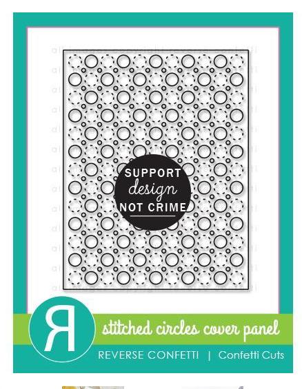 Reverse Confetti - Stiched Circle
