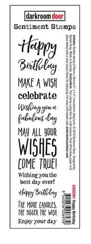 Darkroom Door - Sentiment Strip Happy Birthday