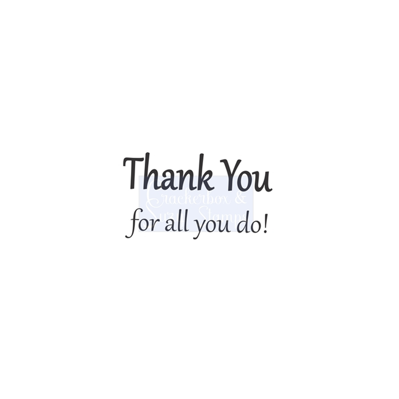 Crackerbox & Suzy Stamps - Thank You Bold
