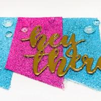 Embossed Glitter Paper