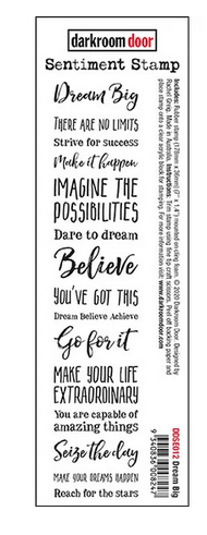 Darkroom Door - Sentiment Strip Dream Big