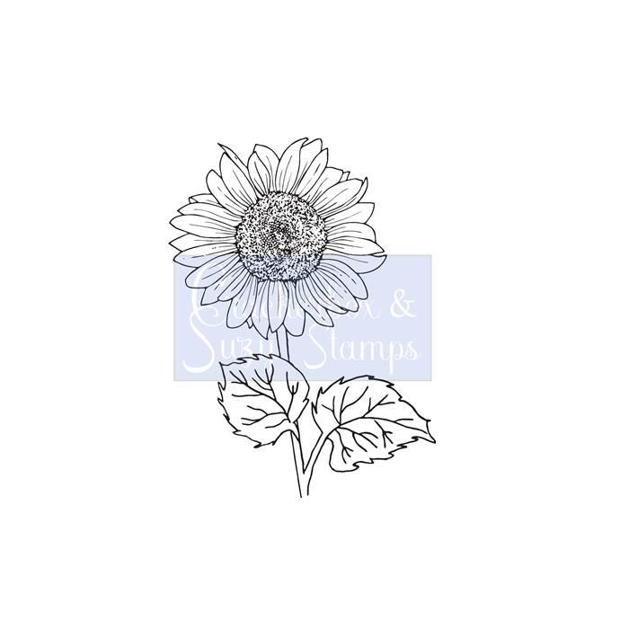 Crackerbox & Suzy Stamps - Sunflower