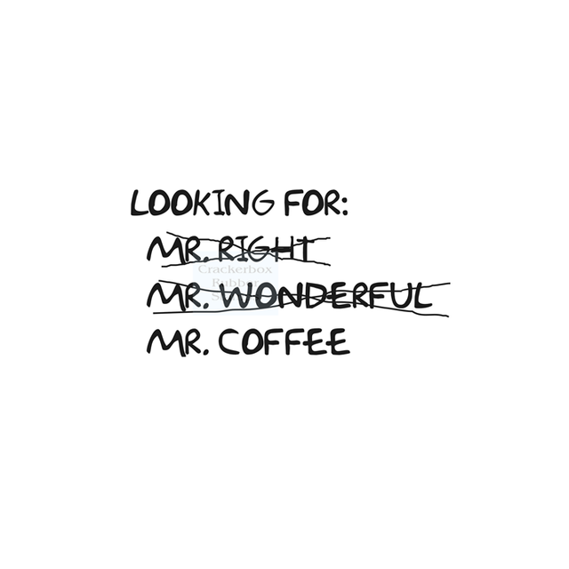 Crackerbox & Suzy Stamps - Mr. Coffee