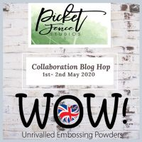 WOW! Embossing Powder and Picket Fence Studio Blog Hop