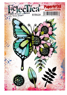 I love this beautiful butterfly and the added bonus of the flowers.