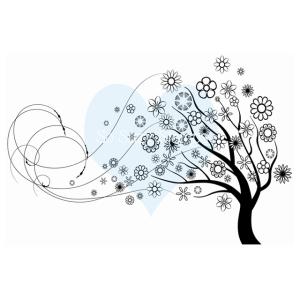 CSSblowingflowertree